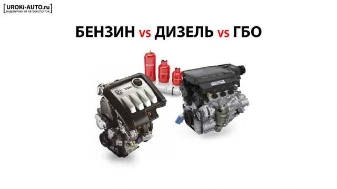 Урок 3 - типы двигателей, бензиновый двигатель, дизельный двигатель, газобалонное оборудование ГБО