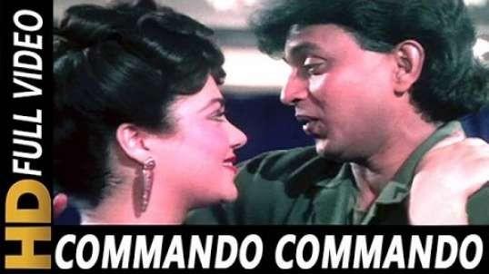 Commando Commando - Vijay Benedict, Alisha Chinai - Commando 1988 Songs - Mithun, Mandakini