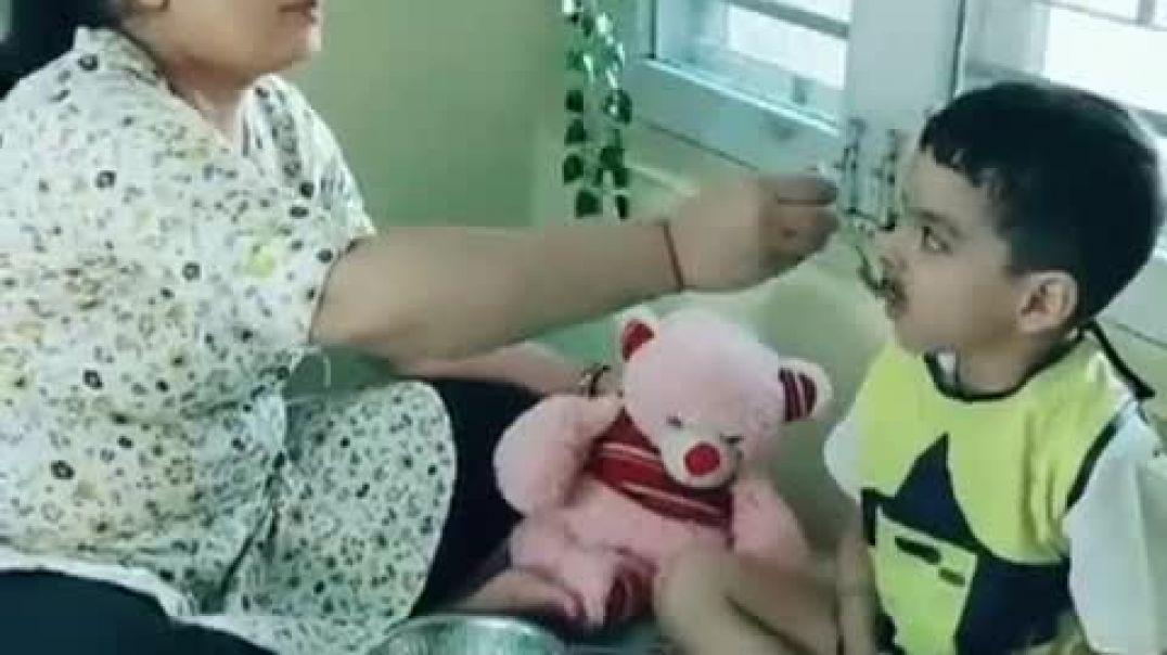 Новый метод заставлять ребенка есть еду.mp4