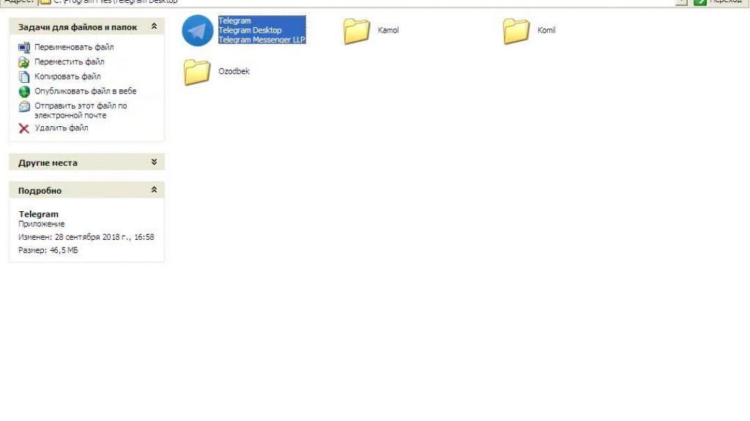 Kompyuterda bir nechta telegram raqamdan telegramga kirish.avi