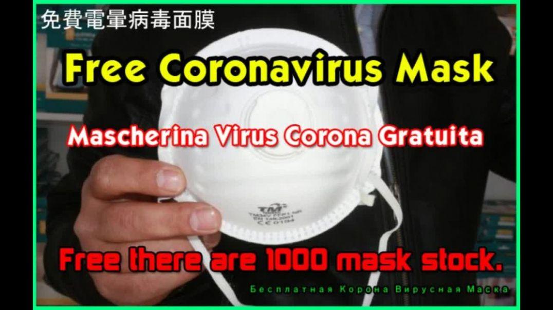 Free Coronavirus Mask - Máscara de Coronavirus Gratis - Kostenlose Coronavirus Maske